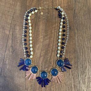 Talbots three strand statement necklace